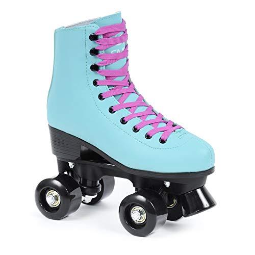 SMJ sport Damen Klassische Retro Rollschuhe ABEC7 Roller Skates Inliner Inlineskates (39)