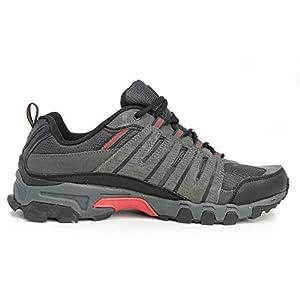 Fila Mens Westmount Hiking Outdoor Athletic Sneaker, Grey/Black/Red, 8