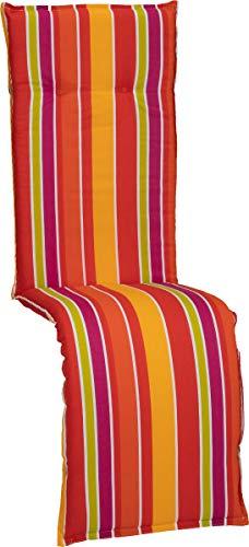 Beo Gartenstuhlauflage Sitzkissen Polster Stuhlkissen für Relaxstühle Streifen hellgrün orange gelb violett