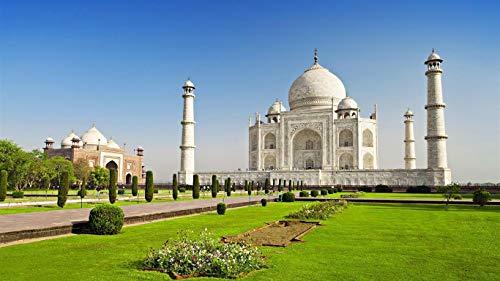 Puzzle 500 Puzzles Puzzle De Madera De Difícil Y Desafiante Juguete Grande Educativo El Alivio Del Estrés Juguete Relajante Juego Divertido Para Adultos Niños Templo Taj Mahal, India