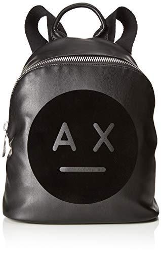 Armani Exchange - Graphic Logo Backpack, Bolsos mochila Mujer, Negro (Nero), 31.0x15.0x27.0...