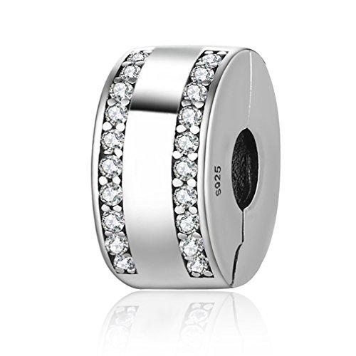 Lily Jewelry - Ciondolo in argento Sterling 925 con zirconia cubica, per braccialetti Pandora