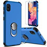 lovpec Galaxy A10e Case with Soft TPU Screen Protector, Ring Magnetic Holder Kickstand Shockproof Protective Phone Cover Case for Samsung Galaxy A10e 5.8 inches (Blue)