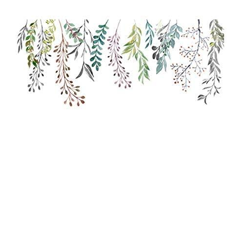Fondo De Sofá Creativo Pegatinas De Pared Carteles De Estilo Nórdico Planta Verde Decoración De Sala De Estar Pegatinas De Cocina Papel Tapiz 100X60Cm
