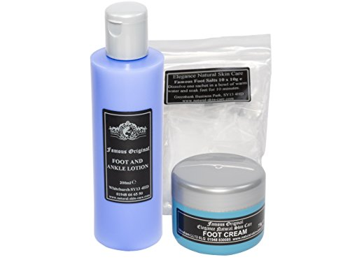 Pack Cadeau Gamme Soin des Pieds Complet. Fabriqué par Elegance Natural Skin Care en Grande-Bretagne
