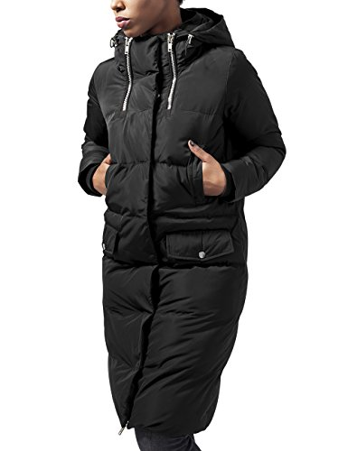 Urban Classics TB1371 Damen Trenchcoat Mantel Ladies Bubble Coat,Gr. 40 (Herstellergröße: L), Schwarz (black 7)