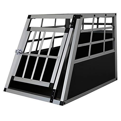 Petigi Aluminium Hundetransportbox Reisebox Gitterbox Transportbox 54x50x69 cm