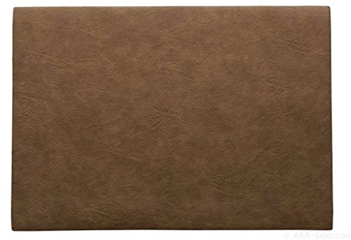 ASA - Tischset, Platzset - Farbe: Toffee Braun - Kunstleder - 46 x 33 cm - 6er Set