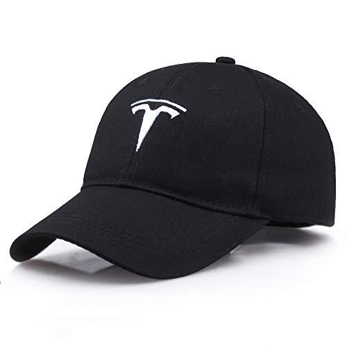 AIMICONG Cap Baumwollbaseballmütze Männer Frauen Tesla Baseballmützen Trucker Cap Snapback Baseball Hat-B