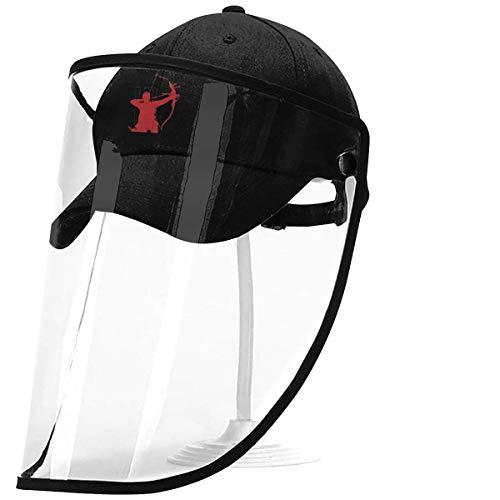 ZAlay Tiro con Arco Arco Caza Seguridad Pantalla Facial Visor Gorra Protectora de Cara Completa Sombrero de béisbol
