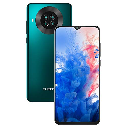 CUBOT Note 20 Smartphone ohne Vertrag, 6.5 Zoll HD Display, 4200mAh Akku, 4 Kameras, Android 10, 3GB RAM+64GB ROM, 4G, Dual SIM, NFC, Face ID, Deutsche Version, Grün