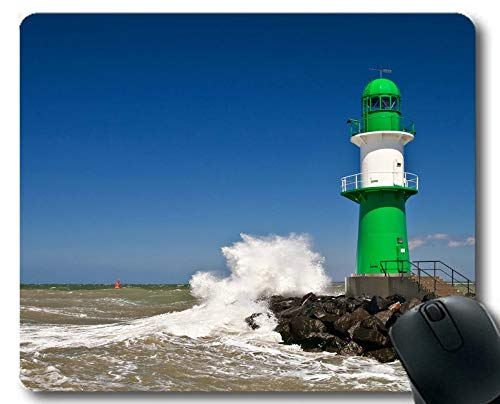 Gaming Mouse Pads,Lighthouse on Beach Gaming Mouse pad