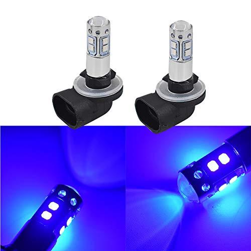 labwork 2pcs Xtreme Super Bright LED 881 862 886 889 894 896 898 Fog Light Bulbs - High Power COB Universal 880 LED Bulb 880 LED Fog Lights Bulbs Lamp Replacement - 10000K Deep Blue