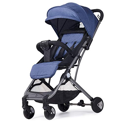 Best Bargain Baby Stroller, Foldable Infant Pushchair with 5-Point Safety Harness, Multi-Position Re...