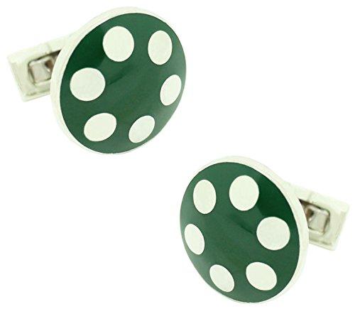 Masgemelos – Skultuna Balls boutons de manchette argent – Vert
