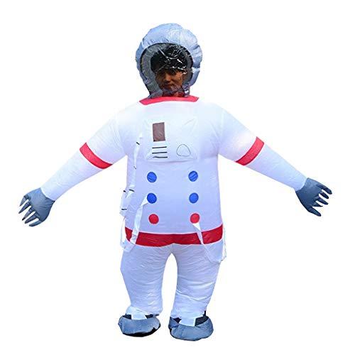 OLLVU Adulto Halloween Creativo Carnaval Espacio Astronauta Traje Inflable Espectáculos Divertidos Ropa Ropa Fiesta de Bar Cosplay Servicio de artículos for Padres e Hijos