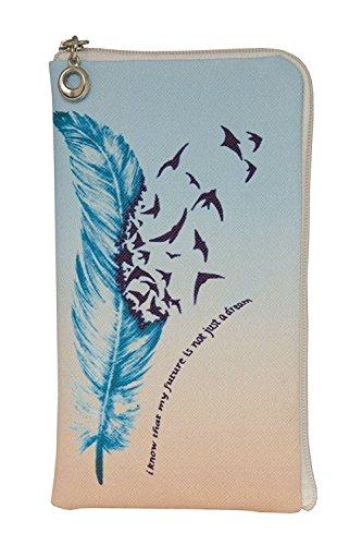 Gütersloher Shopkeeper Elegante Reissverschluss Handytasche Softcase My Future geeignet für BlackBerry DTEK50 - Handy Schutz Hülle Soft Etui Tasche Case