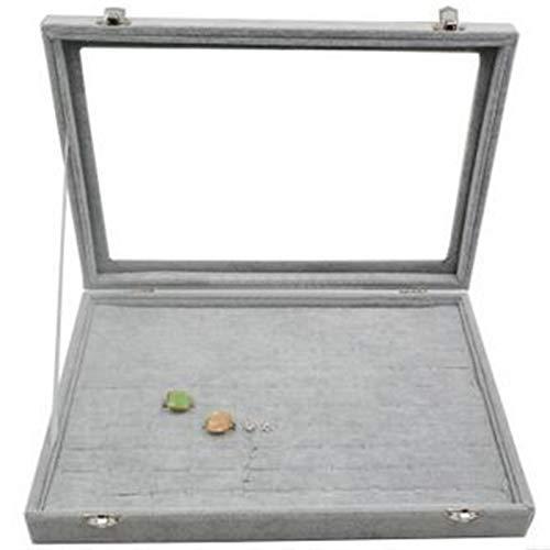 PPLAS Caja de exhibición de Joyas Funda para Anillo Pulsera Pulsera Collar u Otros Adornos Almacenamiento Organizador de joyería Empaquetado (Color : 100pcs Ring Tray)