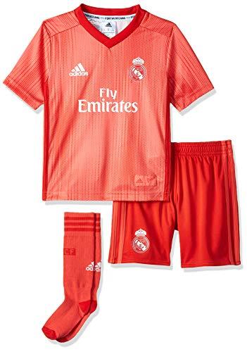 adidas Kinder 18/19 Madrid 3rd Mini-ausrüstung, real Coral/Vivid red, 104