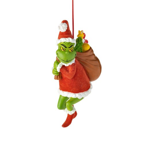 Department 56 Grinch Stealing Christmas Hanging Ornament, 4.625 inch