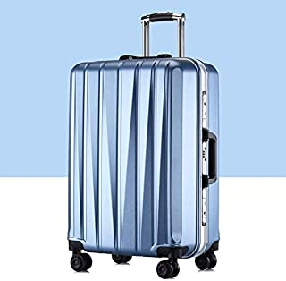 Luggage & Bags 24 inch Suitcase Female Pull-Rod Case Universal Wheel PC Travel Suitcase (Color : Blue)