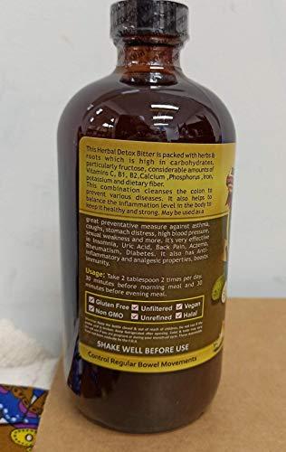 Soursop & Turmeric Living Bitter 5 in 1 with Angelica Roots, Nut Meg & Myrrh Extracts Hebal Tonic
