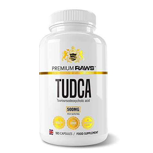 TUDCA 500mg (Tauroursodeoxycholic Acid) - Tudca Supplement Liver Support (180 Vegan Capsules 250mg) Cycle Assist Supplement Three Month Supply