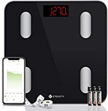 Etekcity Digital Weight Scale, Smart Bluetooth Body Fat Scale, Bathroom Scale Tracks 13 Key Compositions, 6mm-Thick Glass, Sync with Fitbit, Apple Health and Google Fit, 400 lbs