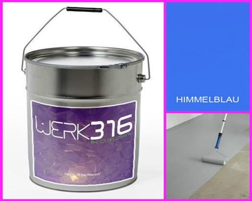 6,75€/l - 20L Bodenbeschichtung Betonfarbe Bodenfarbe Bodenversiegelung Garagenfarbe Himmelblau