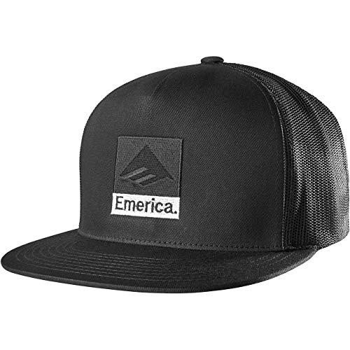 Emerica Herren Classic Snapback Baseballkappe, schwarz, Einheitsgröße