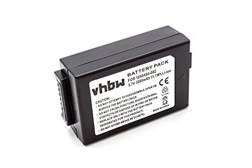 vhbw Batterie 3000mAh pour Psion Teklogix 1050494 7525 7525C 7527 G1 G2 WA3006 WorkAbout Pro C WorkAbout Pro G1 G2, G3. Remplace Batterie: 1050494-002