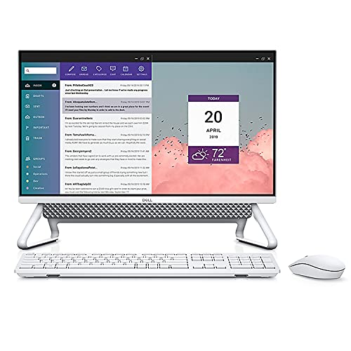 """2021 Dell Inspiron 24 5400 AIO 23.8"""" FHD Touchscreen All in One Desktop Computer, Intel Quad-Core i7 1165G7 up to 3.7GHz, 16GB DDR4 RAM, 256GB PCIe SSD + 1TB HDD, MX330 2GB, WiFi 6, BT 5.1, Windows 10"""