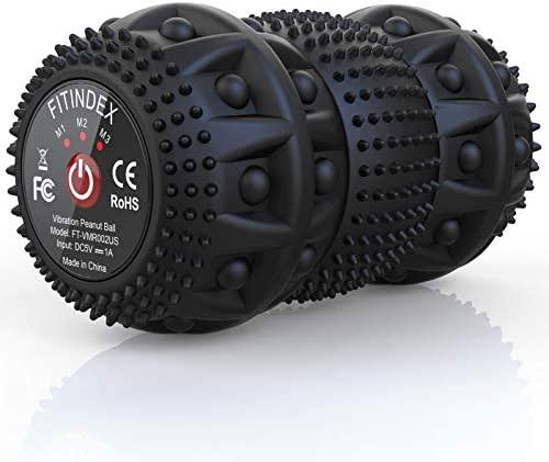 FITINDEX Electric Massage Ball Vibrating Massage Ball 4 Speed Intensity for Deep Tissue Massage product image