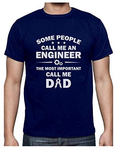 Green Turtle Camiseta para Hombre - Regalos Padres, Regalos Ingeniero - Some Call me Engineer Medium Azul Oscuro