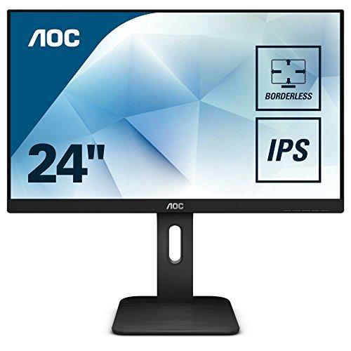 AOC 24P1 60,4 cm (23,8 Zoll) Monitor (DVI, HDMI, IPS Panel, Displayport, USB Hub, 1920 x 1080, 5ms Reaktionszeit, Pivot) schwarz
