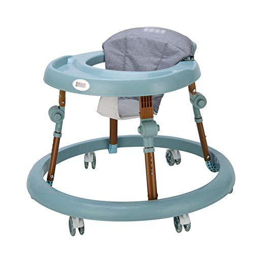 WMYJXD Lauflernhilfe, Multifunktions-Lauflernhilfe Für Babys, Faltbar, Verstellbar, Anti-Rollover, ABS, Keine Installation Erforderlich, Geeignet Für Säuglinge Mit 6 Bis 36 Monaten,Blue