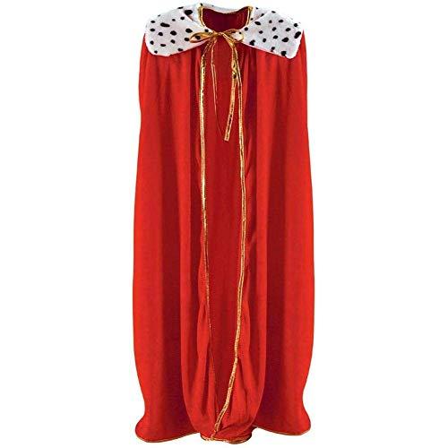 LIUCHANG Adulta King Queen Thane, King Queen Costume Capa King Cabo Disfraces for Adultos Halloween Cosplay Cape Disfraz Access, Rojo/Peuple, 120cm / 140cm liuchang20 (Size : Red 120cm)