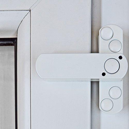4 x Bever Stuco Safe Fenstersicherung, 1-flügelig, weiß, 20SW