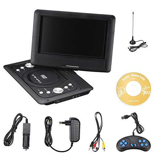 Read About WWK Portable DVD EVD Player, 10.2 Inches with TV/FM/USB/Game Function Support FM Can Read...