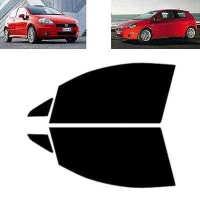 Film Solaire Vitres Teintées pour-Fiat Grande Punto 3-Portes 2005-2009 - Vitres Avant (70% Fumé Ultra Léger)