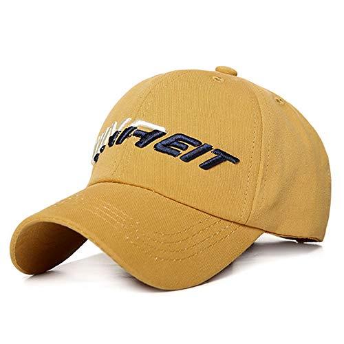 ZZDGFC Sommerhaube für Kinder Schriftzug Stickerei Hut für Mädchen Sport Mode Casquette für Jungen Atmungsaktiv Aktiv verstellbar Gorras Für KinderGelb