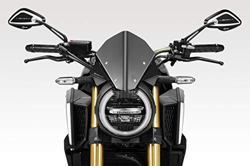 CB650R 2019 - Windschutzscheibe 'Warrior' (R-0916) - Aluminium Windschild Windabweiser Scheibe - Hardware-Bolzen Enthalten - Motorradzubehör De Pretto Moto (DPM Race) - 100% Made in Italy