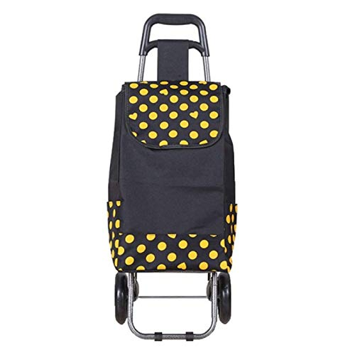 SONG 2 Wheel Folding Shopping Trolley Bag Cart Market Laundry,Trendy Folding, Collapsible Push, Pull Carts,F
