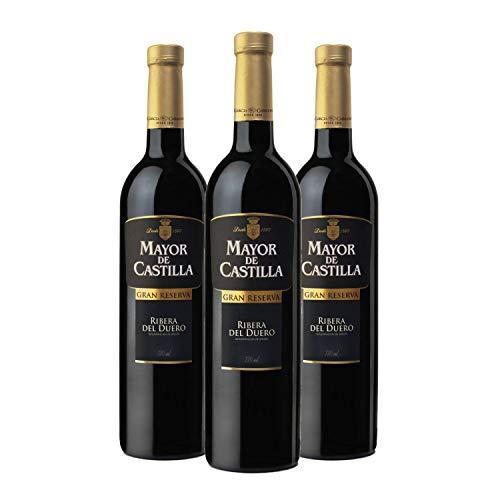 Mayor de Castilla Gran Reserva - Vino Tinto D.O Ribera del Duero, Caja de 3 Botellas x 750 ml
