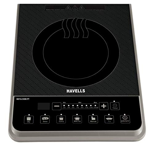 Havells Insta Cook PT 1600-Watt Induction Cooktop (Assorted Colors)