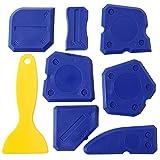 8 Pieces Caulk Tool Kit Sealant Silicone Finishing Tools Caulking Tools for Silicone Sealant Grout Finishing Sealing (Blue)