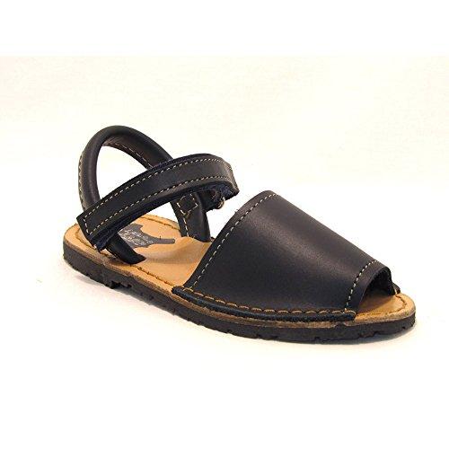 15091 - Sandalias ibicencas con Velcro Azul Marino