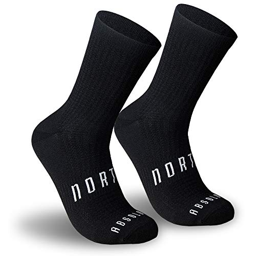 NORTEI - Calcetines Negros para Ciclismo