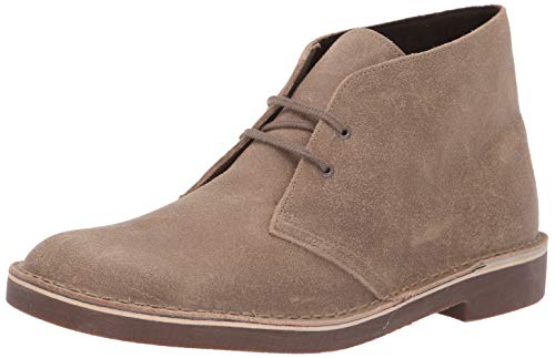 Clarks mens Bushacre 2 Chukka Boot, Taupe Distressed Suede, 9 US