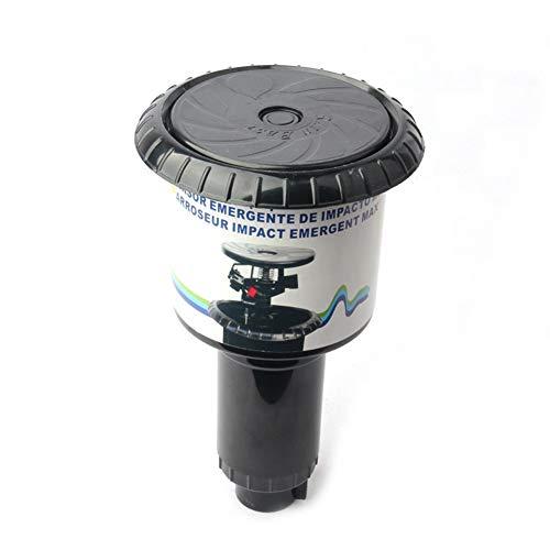 Aspersor de impulsión para irrigación del césped, boquilla de impacto de aspersión emergente 1/2 '' + 3/4 '' Hilo interno Riego de jardín de plástico